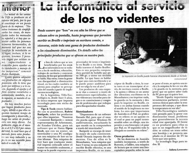 Suplemento Informática Septiembre 1998
