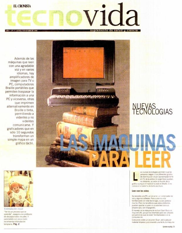 Nota de Prensa El Cronista 1999