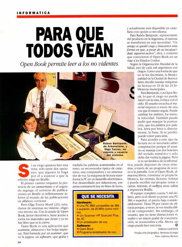 Notas de Prensa Revista Noticias 1997